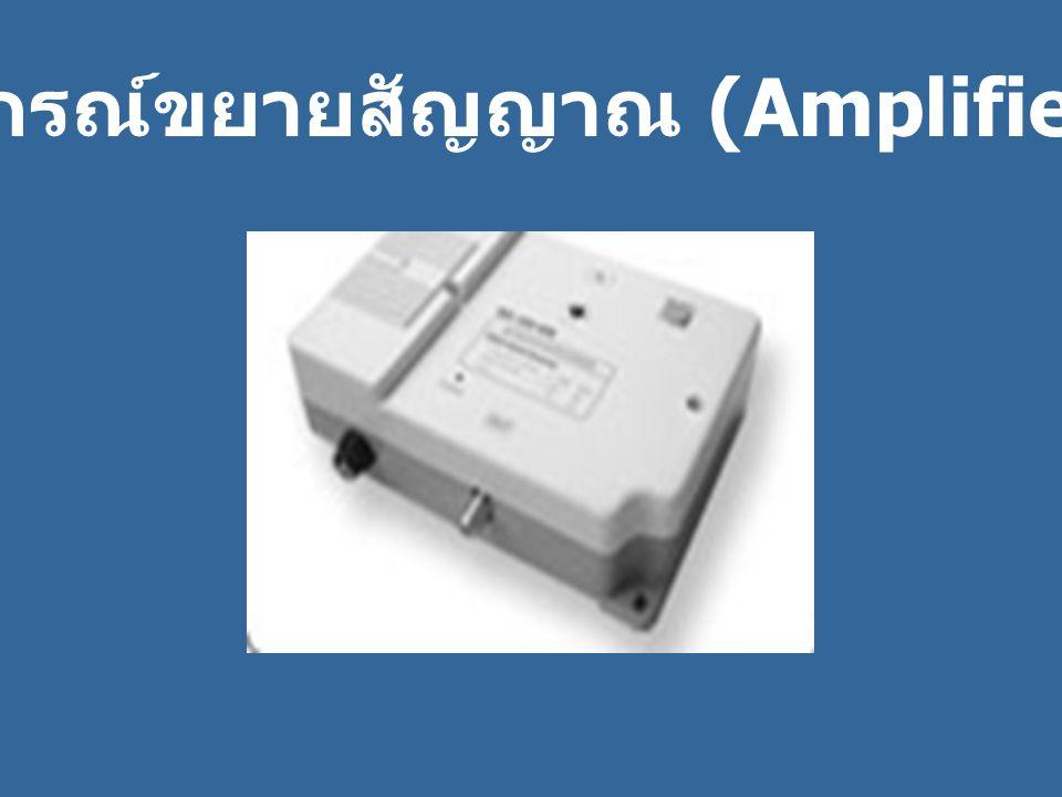 ห อุปกรณ์ขยายสัญญาณ (Amplifier)