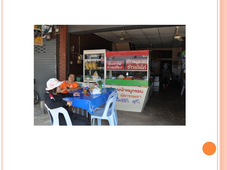 ประเภทนักท่องเที่ยวที่มารับประทานอาหาร ชาวไทย ได้แก่ ชาวภาคกลาง, ชาว จ.