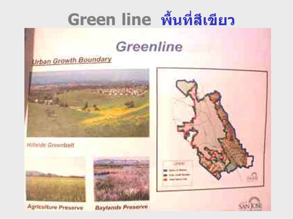 Green line พื้นที่สีเขียว