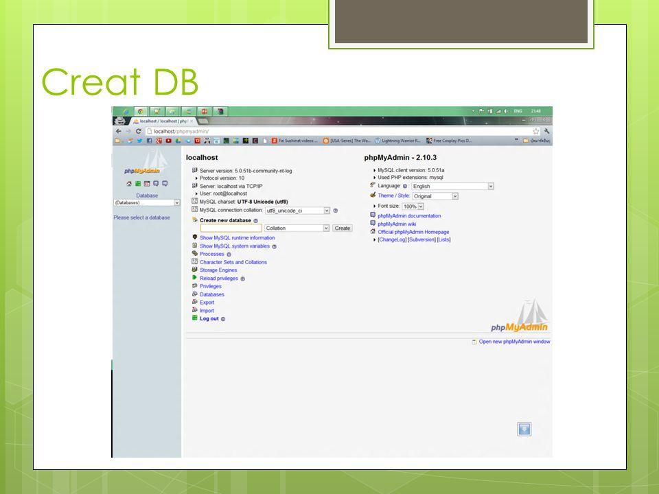 Creat DB