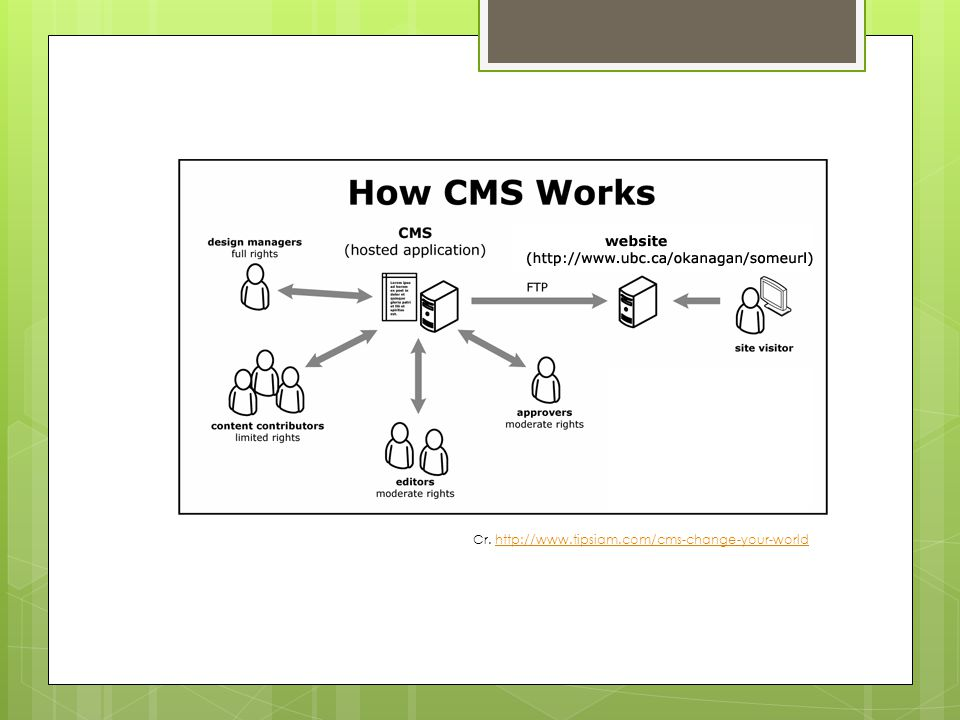 EXAMPLE OF CMS
