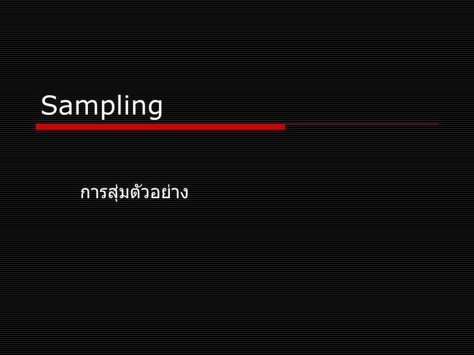 Cluster sampling  Population groupings according to categories/area แบ่งกลุ่มประชากรตามพื้นที่และ Newspapers  English language The Nation Bangkok Post  Tabloid ไทยรัฐ คมชัดลึก เดลินิวส์ ข่าวสด  Business กรุงเทพธุรกิจ  Middle class มติชน ไทย โพลต์ Thais  Chiang Mai (CNX)  Bangkok (BKK)  Phuket (HKT)