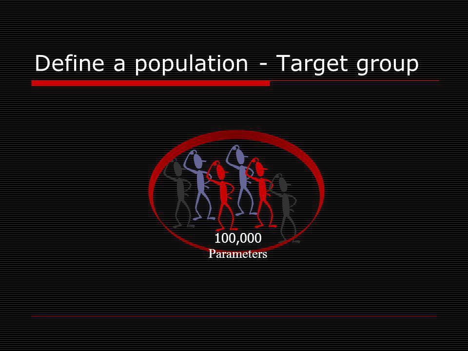 Define a population - Target group 100,000 Parameters