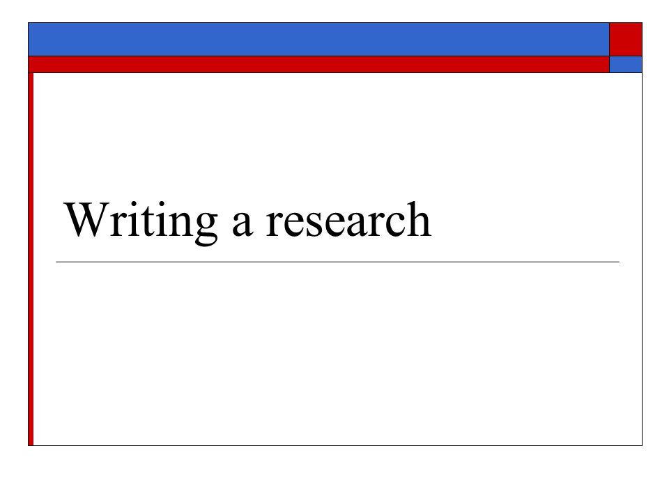 Why Research.