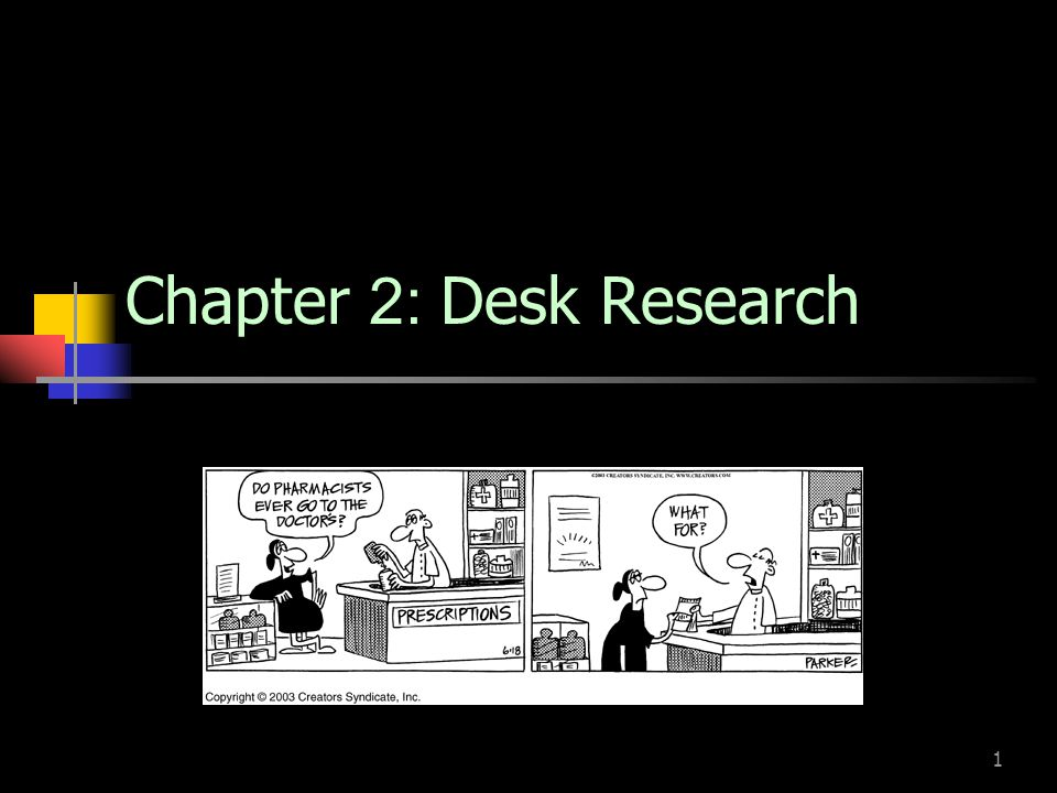 1 Chapter 2: Desk Research