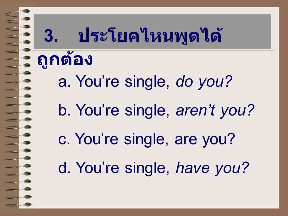 หลักในการเขียนและพูด TAG QUESTIONS 3.