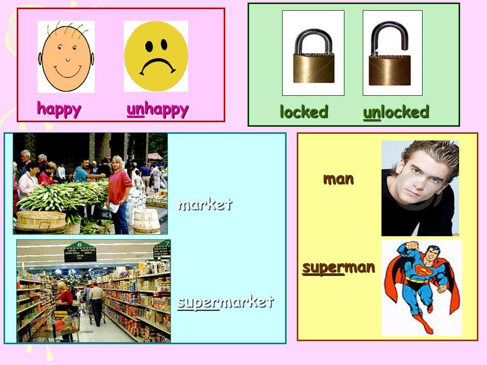 man superman locked unlocked happy unhappy market supermarket supermarket