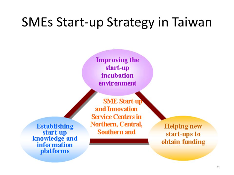SMEs Start-up Strategy in Taiwan 31