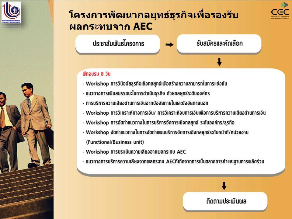 โครงการพัฒนากลยุทธ์ธุรกิจเพื่อรองรับ ผลกระทบจาก AEC