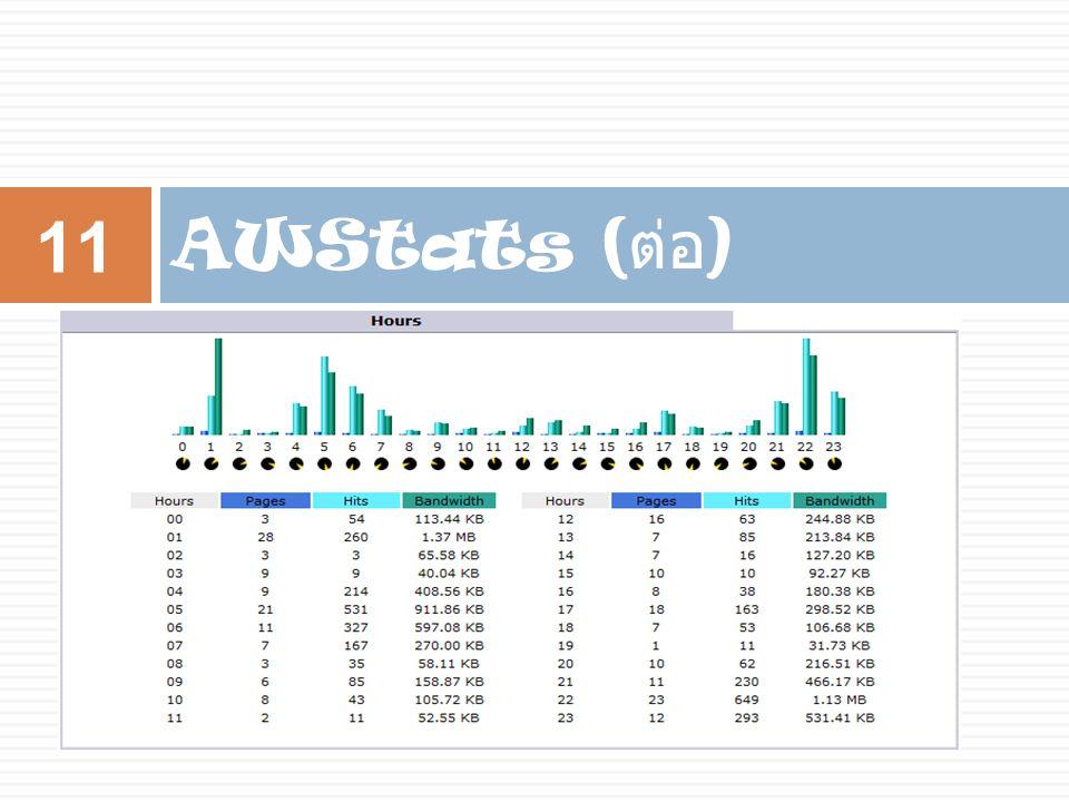 AWStats ( ต่อ ) 11