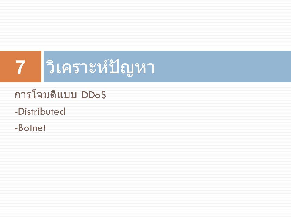 วิเคราะห์ปัญหา การโจมตีแบบ DDoS -Distributed -Botnet 7