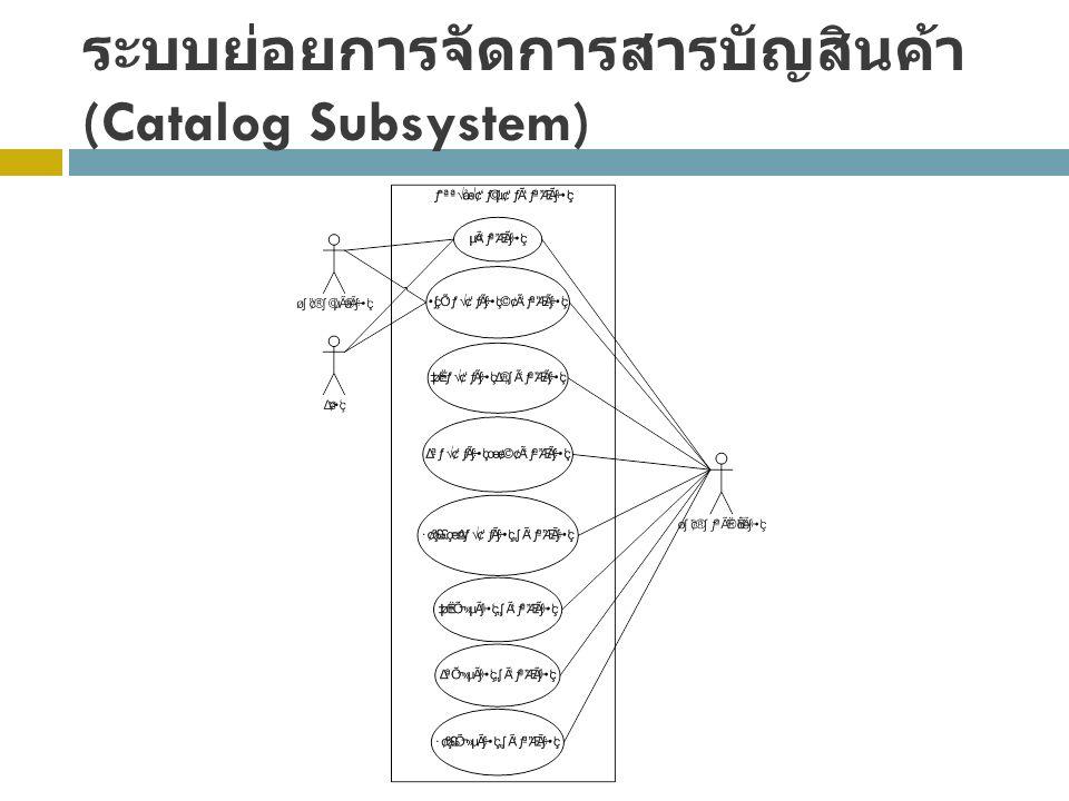 ระบบย่อยการจัดการสารบัญสินค้า (Catalog Subsystem)