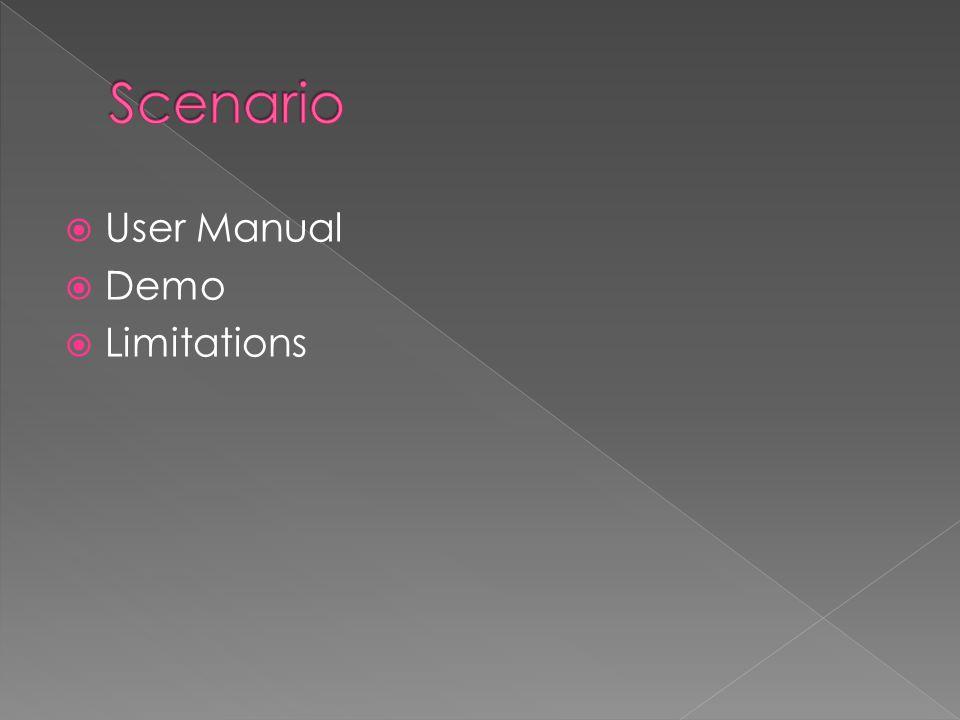  User Manual  Demo  Limitations