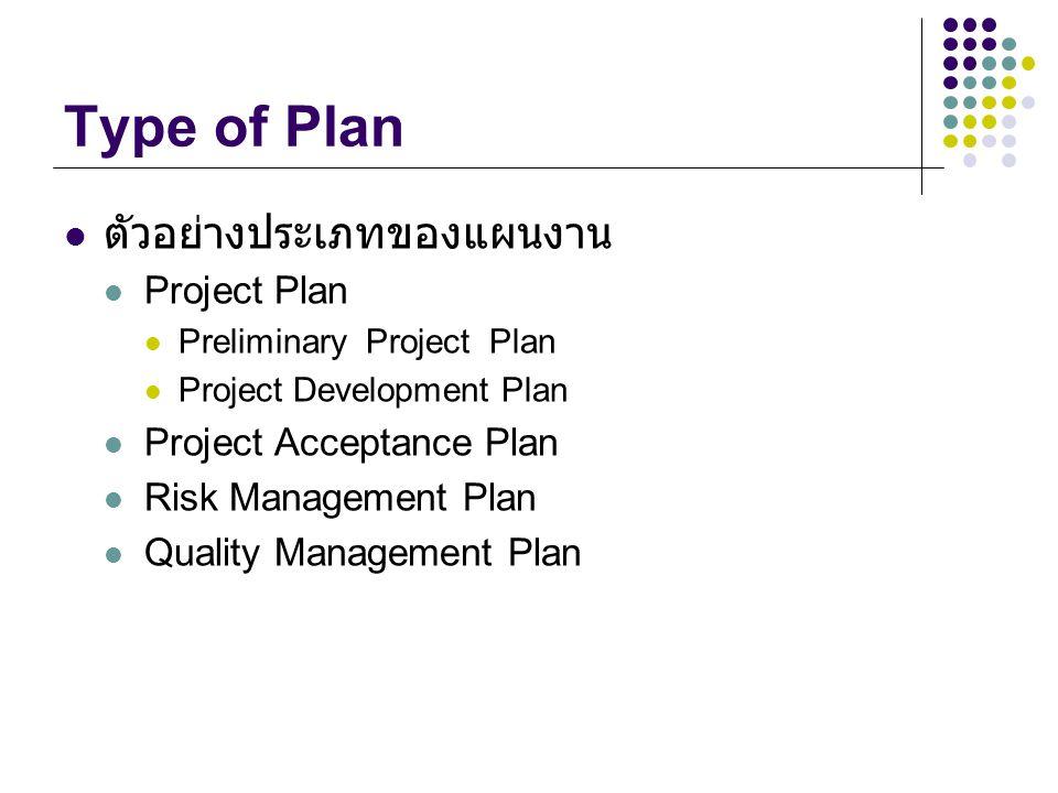 Project Organization and Responsibility การนำเอาโครงสร้างองค์กร และ หน้าที่รับผิดชอบ มาอยู่ในการวางแผน เพื่อวัตถุประสงค์ดังนี้ เพื่อกำหนดหน้าที่ภาระงานให้ชัดเจน เพื่อให้สอดคล้องกับโครงสร้างที่กำหนดไว้ เพื่อกำหนดความต้องการด้านบุคลากรได้ชัดเจนยิ่งขึ้น