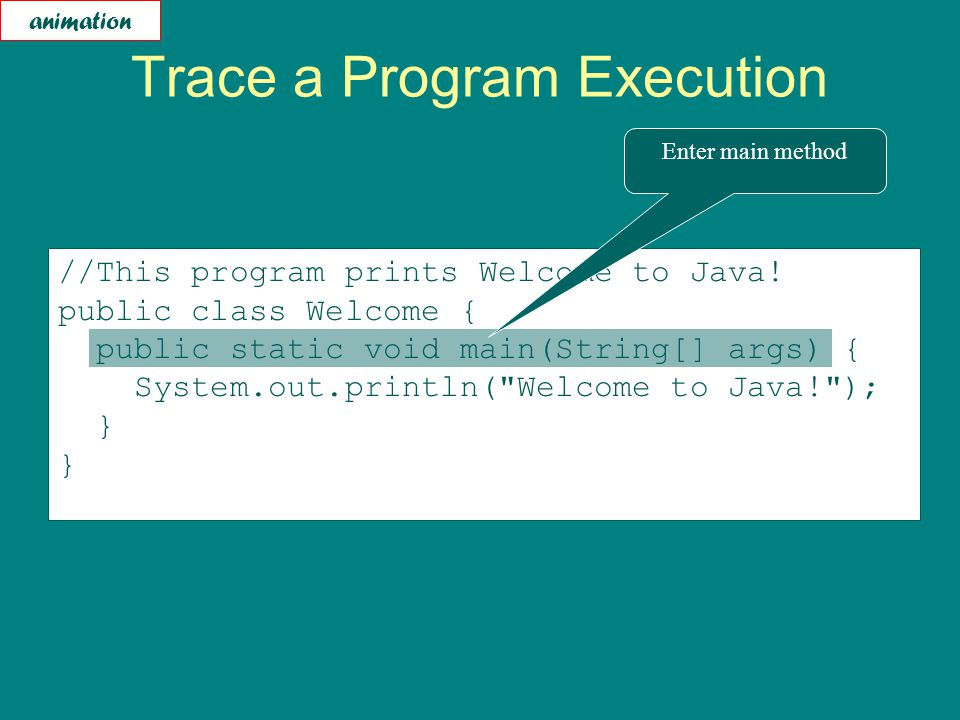 //This program prints Welcome to Java.