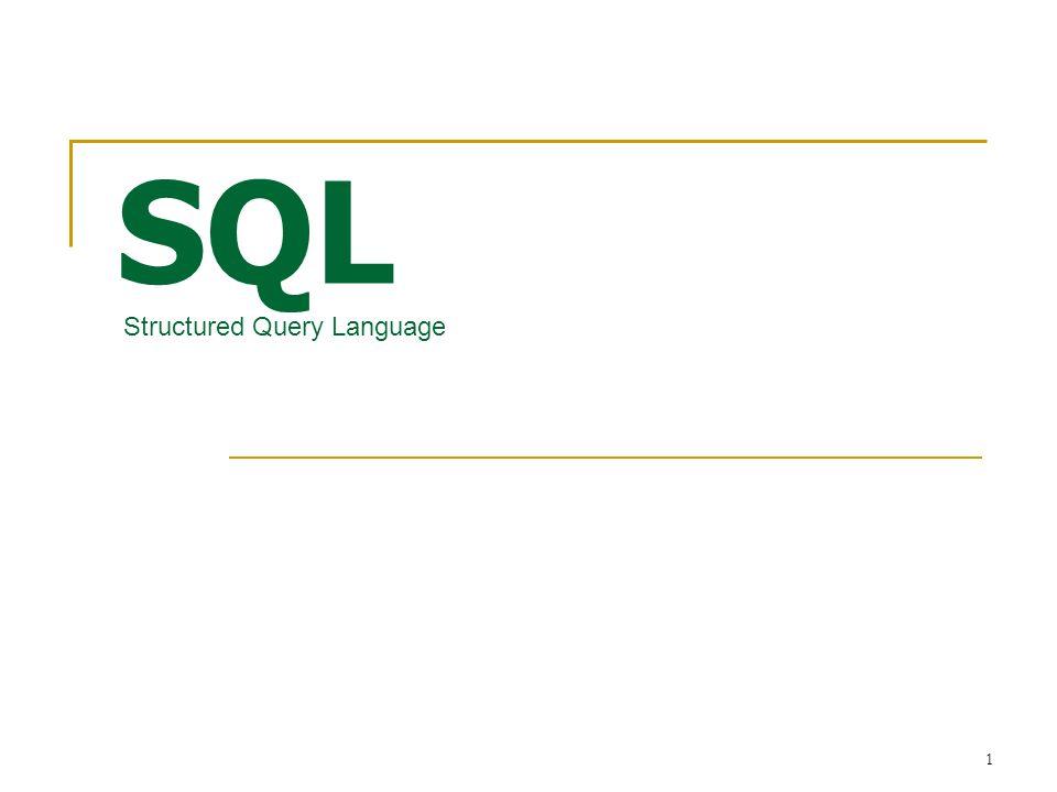 2 SQL หรือ Structured Query Language ภาษาที่ใช้ในการติดต่อกับฐานข้อมูลหรือพูดอีกอย่างก็คือ เป็นภาษาที่ใช้ในการสั่งให้ฐานข้อมูลกระทำการใด ๆ ตาม คำสั่งที่เราสั่ง ซึ่งในการติดต่อฐานข้อมูลนั้น ไม่ว่าจะเป็น SQL Server, Microsoft Access, MySQL,DB2 หรือแม้แต่ Oracle ก็จะต้องใช้คำสั่งภาษา SQL ในการควบคุมทั้งสิ้น