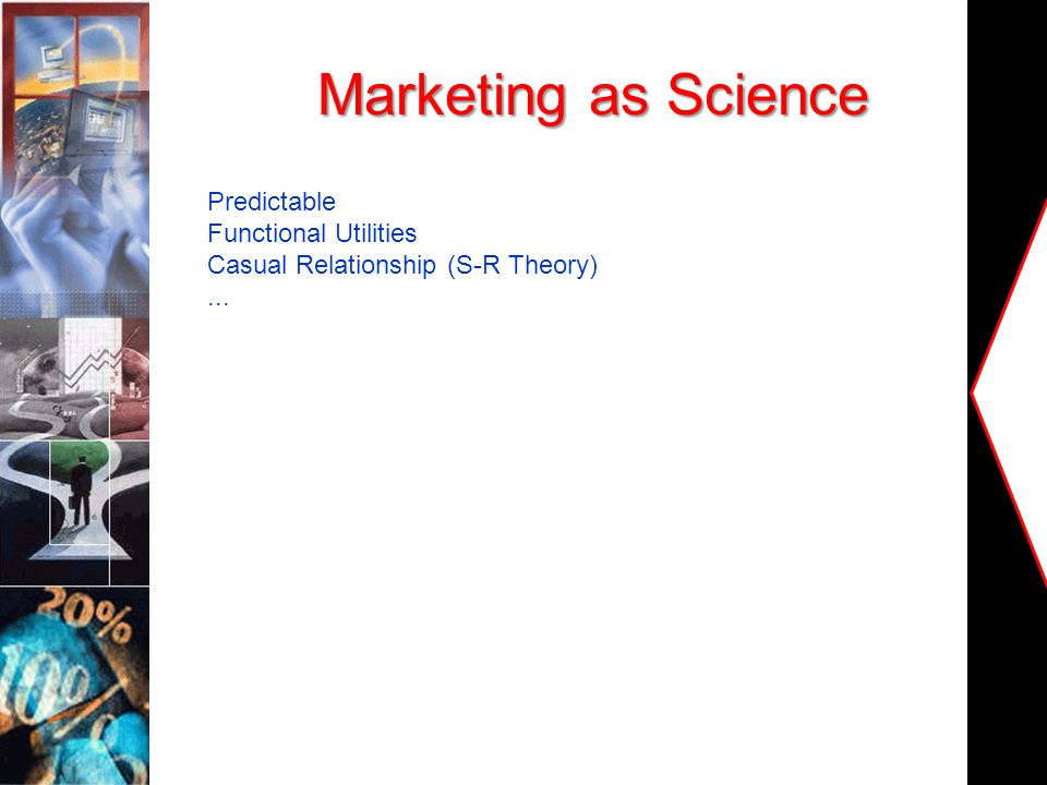 Marketing as Science Predictable Functional Utilities Casual Relationship (S-R Theory)...