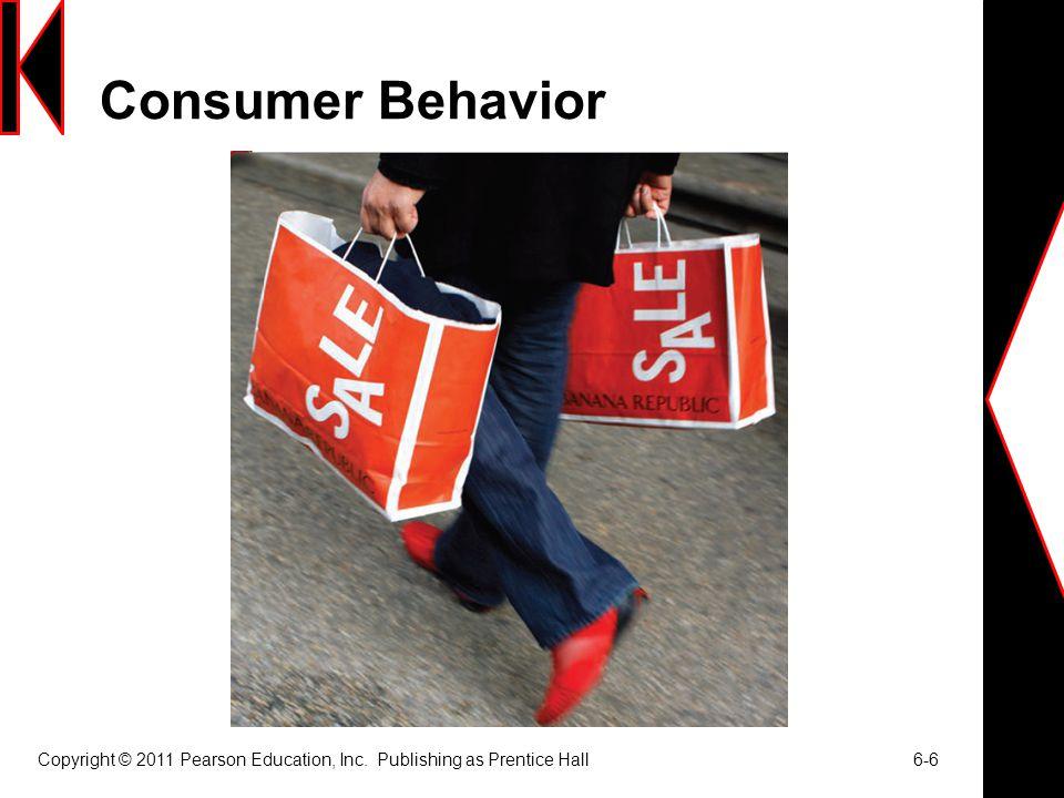Consumer Behavior Copyright © 2011 Pearson Education, Inc. Publishing as Prentice Hall 6-6