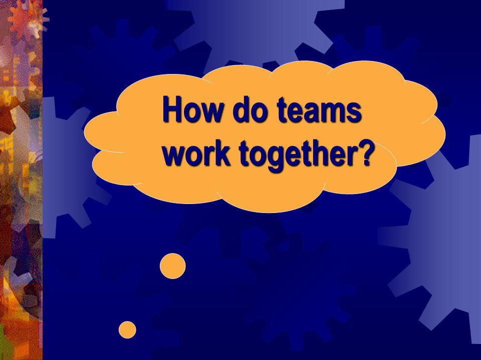 How do teams work together?