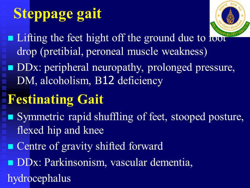 Spastic Gait Hemiplegia - Stiff, flexed hip, extended knee, plantar-flexed foot - Stiff, flexed hip, extended knee, plantar-flexed foot - Affected arm