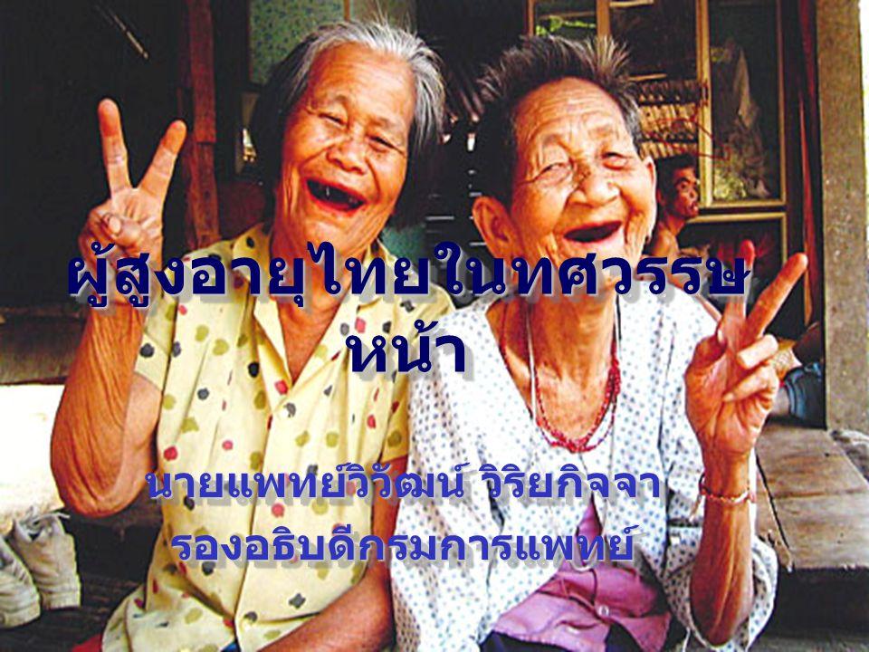 ผู้สูงอายุไทยในทศวรรษ หน้า นายแพทย์วิวัฒน์ วิริยกิจจา รองอธิบดีกรมการแพทย์ รองอธิบดีกรมการแพทย์
