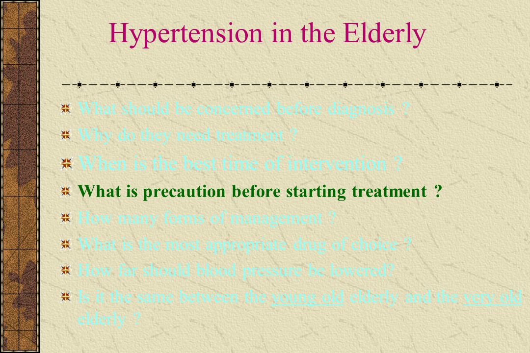 Hypertension in the Elderly What should be concerned before diagnosis .