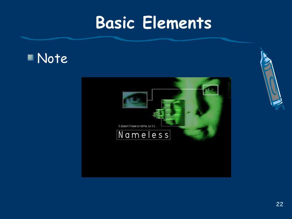 22 Basic Elements Note