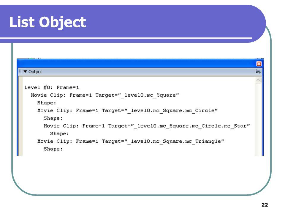 22 List Object