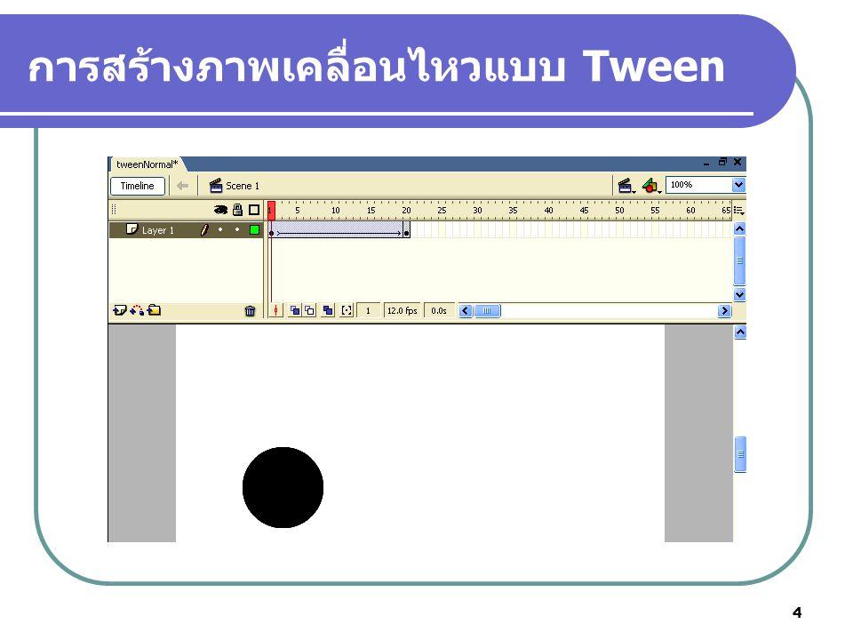 4 การสร้างภาพเคลื่อนไหวแบบ Tween