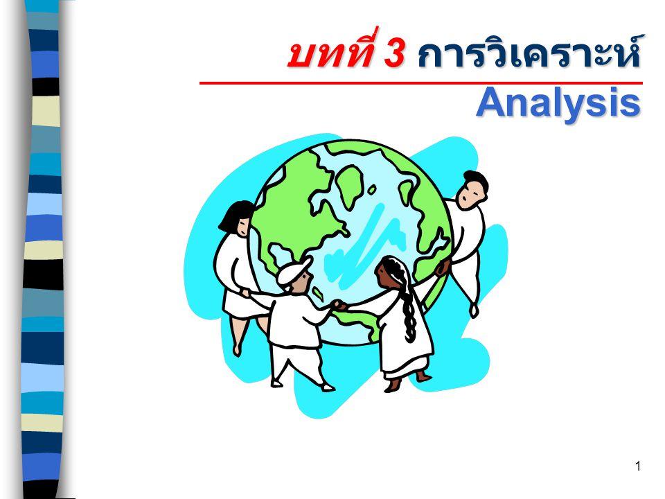 1 บทที่ 3 การวิเคราะห์ Analysis