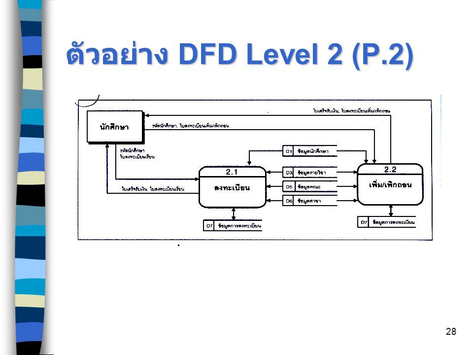 28 ตัวอย่าง DFD Level 2 (P.2)