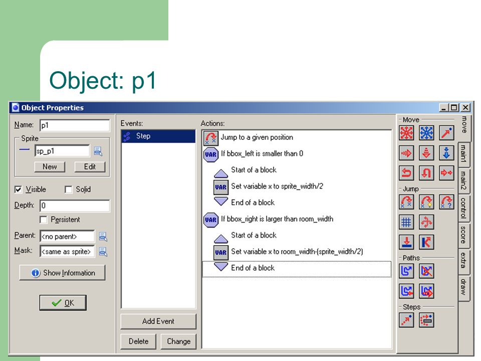 Object: p1