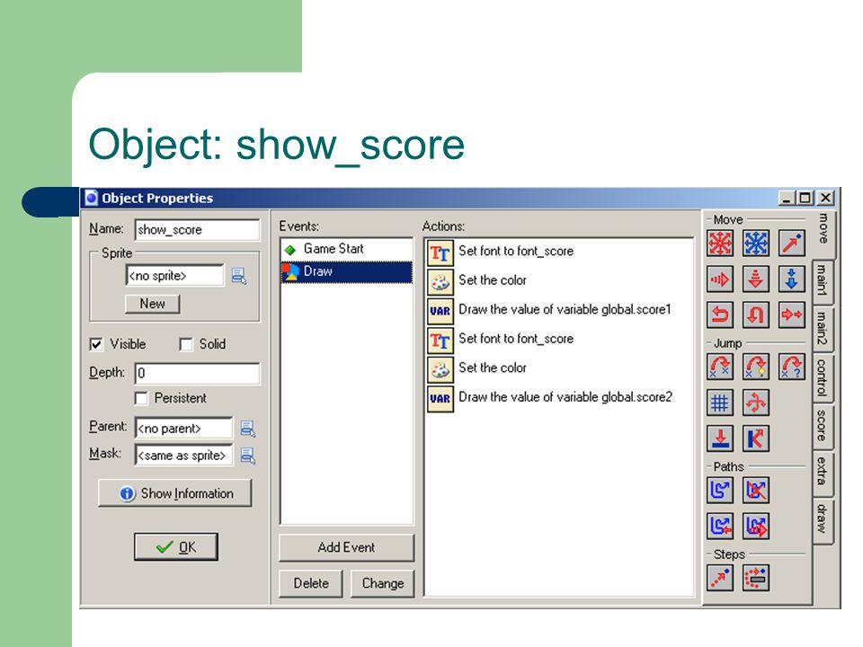 Object: show_score
