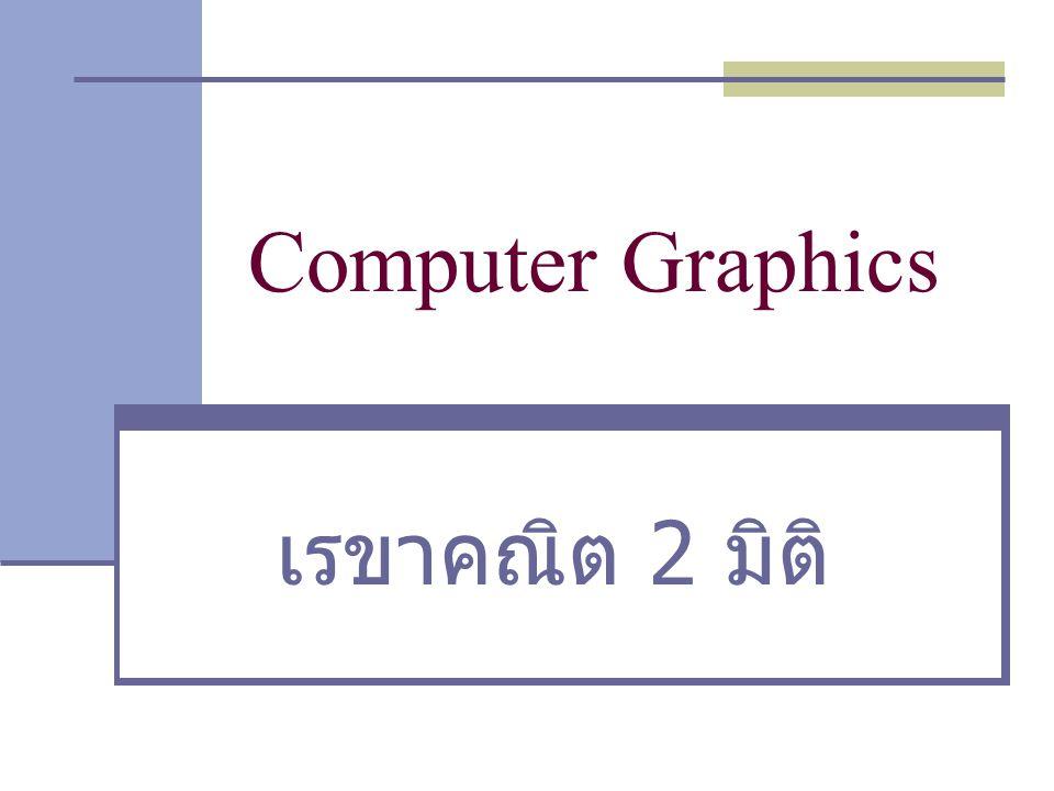 Computer Graphics เรขาคณิต 2 มิติ
