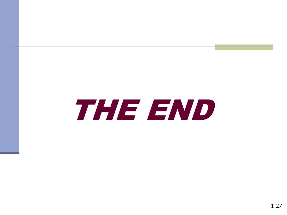 1-27 THE END