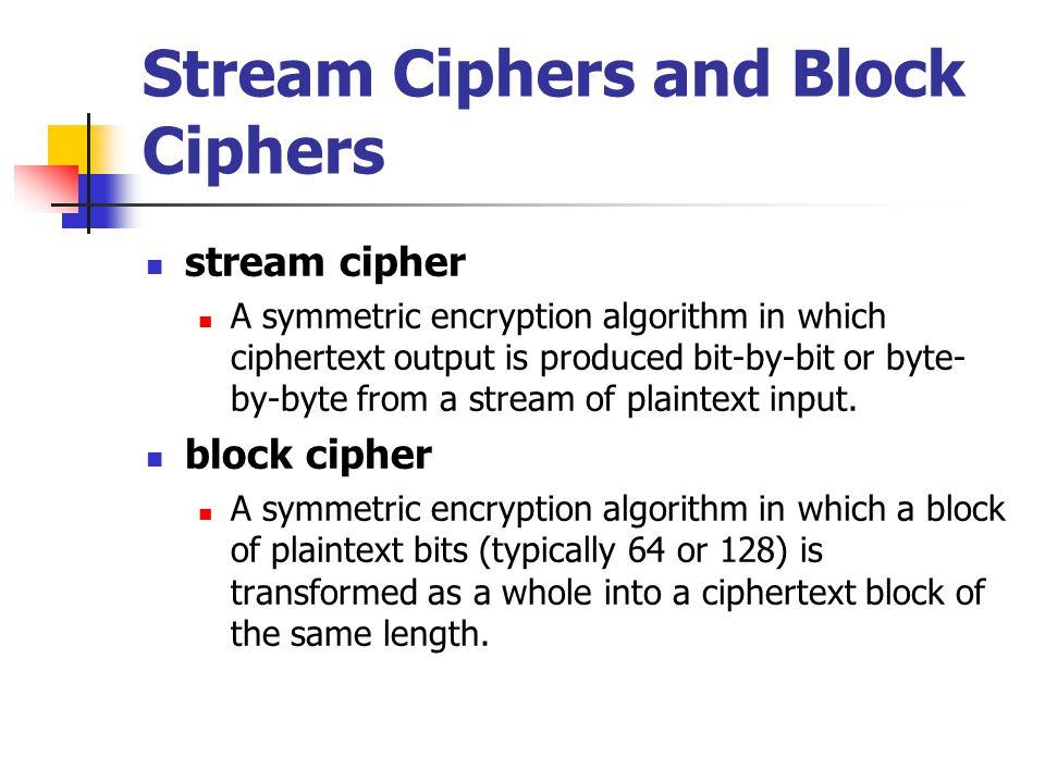 Stream cipher เป็นวิธีการเข้ารหัสที่ละตัว Encryption This is a Message EWRKLIH…….. Key