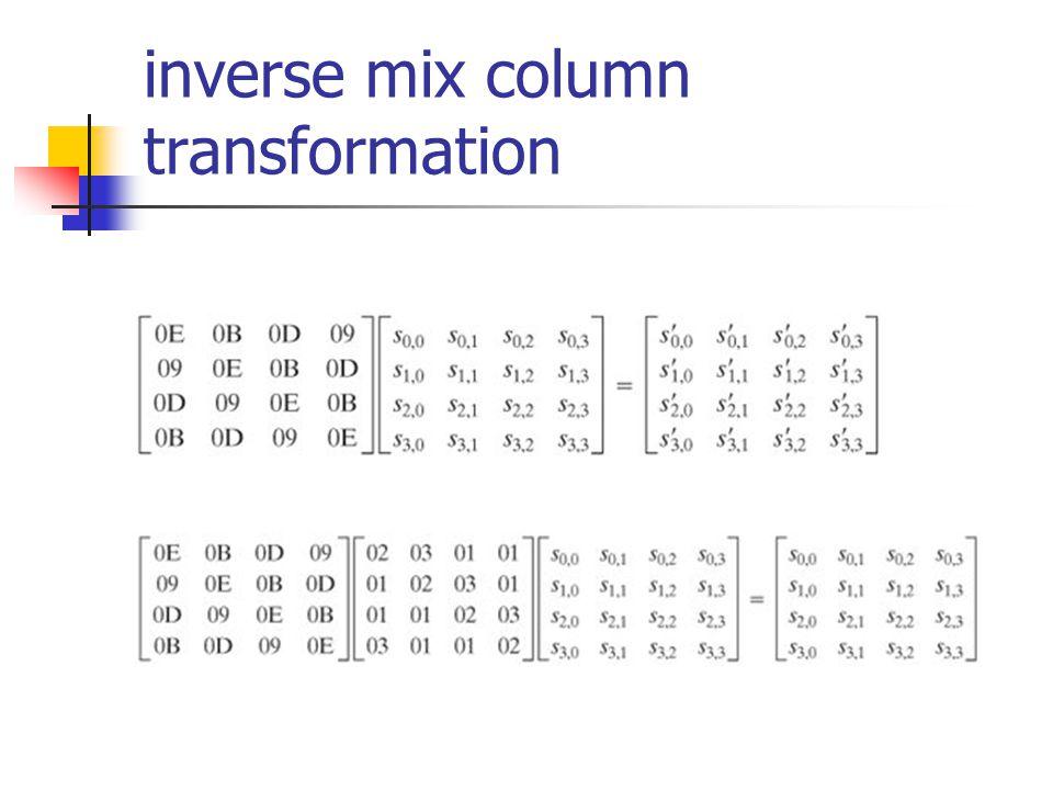 inverse mix column transformation
