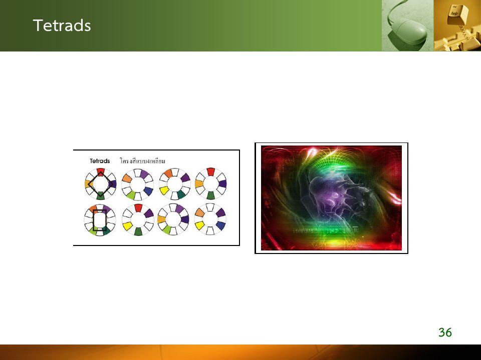 Tetrads 36 ตัวอย่างการออกแบบโดย เลือกใช้โครงสี 4 สี