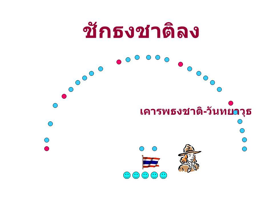 ชักธงชาติลง เคารพธงชาติ - วันทยาวุธ