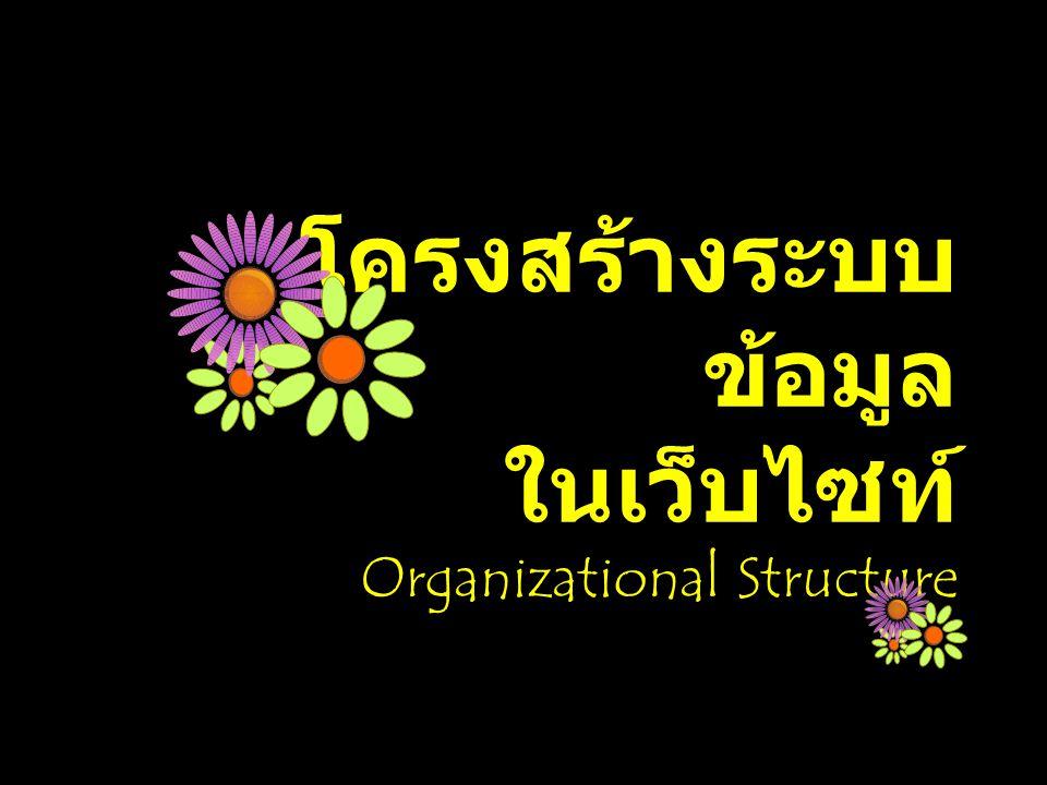 โครงสร้างระบบ ข้อมูล ในเว็บไซท์ Organizational Structure