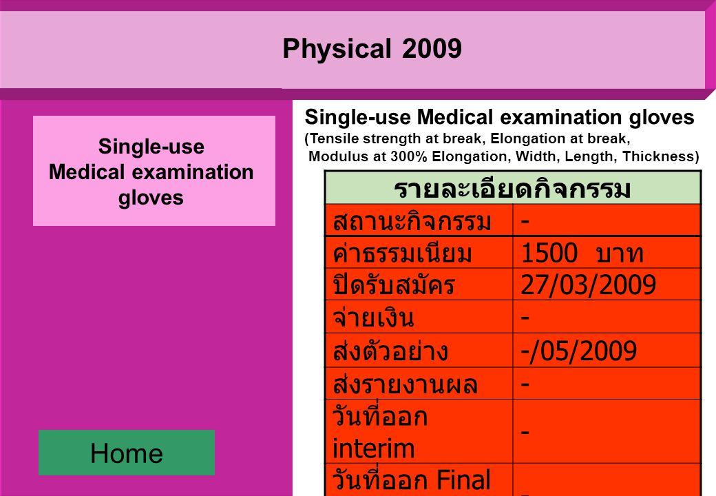 Environmental 2009 รายละเอียดกิจกรรม สถานะ กิจกรรม ปิดกิจกรรม ค่าธรรมเนียม 1200 บาท ปิดรับสมัคร 30/03/2009 จ่ายเงิน - ส่งตัวอย่าง 19/05/2009 ส่งรายงานผล 5/06/2009 วันที่ออก interim - วันที่ออก Final report 13/08/2009 Water (COD, range : 50-200 mg/L and 400-600 mg/L) Home Water (Heavy metals) Water (Suspended solids) Water (Total dissolved solids) Water (pH-value) Water (COD)