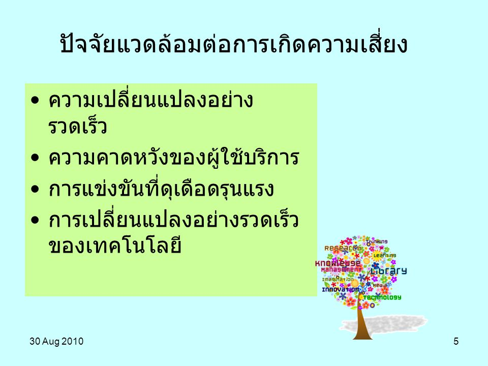 30 Aug 201056 The Australian New Zealand Risk Management Standard (AS/NZ 4360:2004) คำจำกัดความ ความเสี่ยง มาตรฐานการบริหารความเสี่ยง ออสเตรเลีย-นิวซีแลนด์ the culture, processes and structures that are directed towards the effective management of potential opportunities and adverse effects .