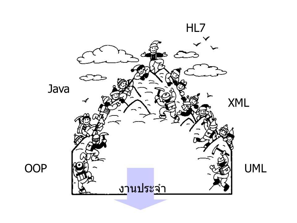 OOPUML XML Java HL7 งานประจำ