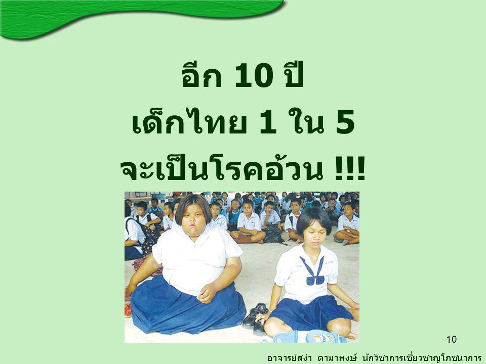 อีก 10 ปี เด็กไทย 1 ใน 5 จะเป็นโรคอ้วน !!! 10