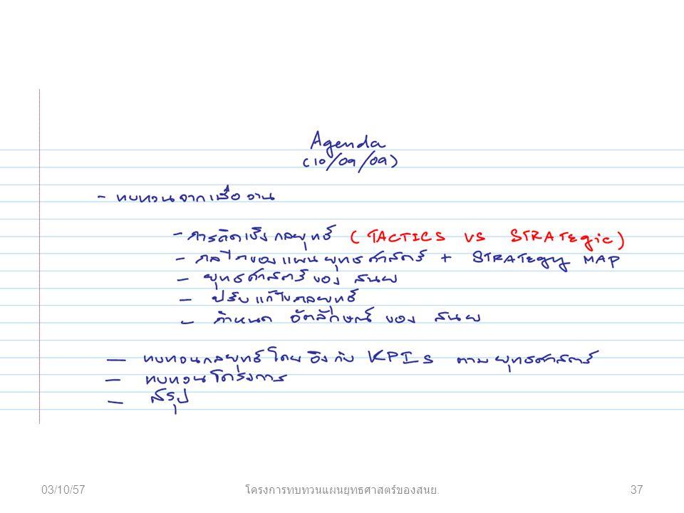 03/10/57 โครงการทบทวนแผนยุทธศาสตร์ของสนย. 37