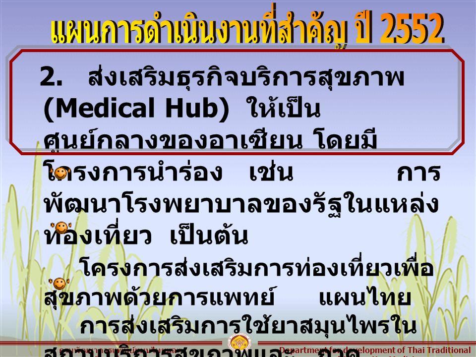 Department for development of Thai Traditional and Alternative Medicine กรมพัฒนาการแพทย์แผนไทยและ การแพทย์ทางเลือก 2.
