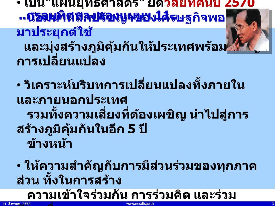 14 สิงหาคม 2553 3 www.nesdb.go.th เป็น