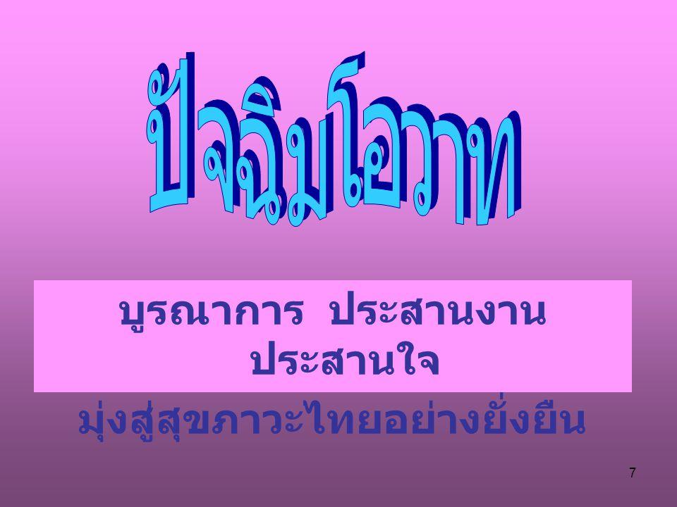 7 บูรณาการ ประสานงาน ประสานใจ มุ่งสู่สุขภาวะไทยอย่างยั่งยืน