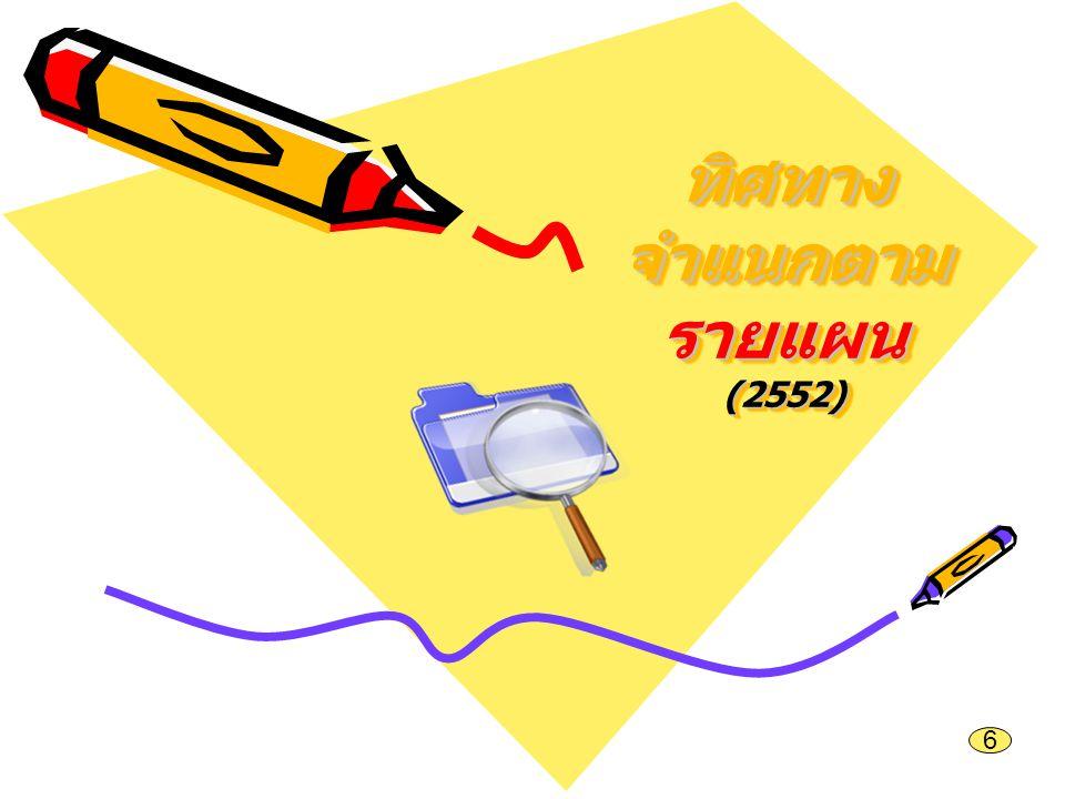 ทิศทาง จำแนกตาม รายแผน (2552) 6