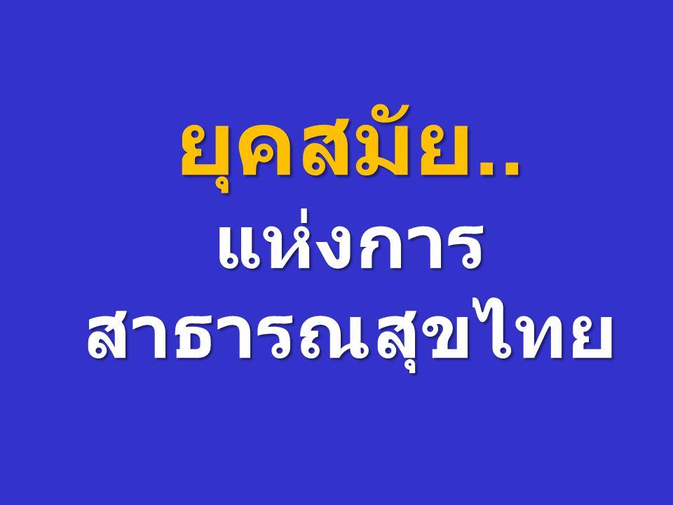 ยุคสมัย.. แห่งการ สาธารณสุขไทย